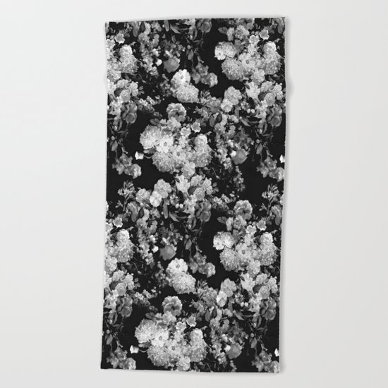 Through The Flowers // Floral Collage Beach Towel