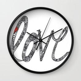 Love Zentangle  Wall Clock