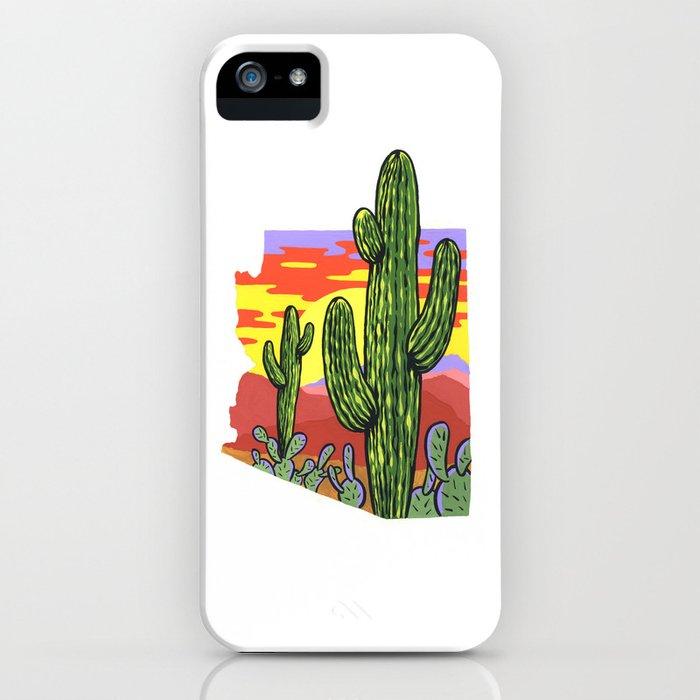 Arizona Saguaro Sunset iPhone Case