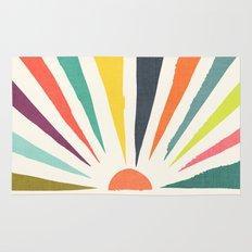 Rainbow ray Rug