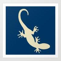 lizard Art Prints featuring Lizard by Abundance