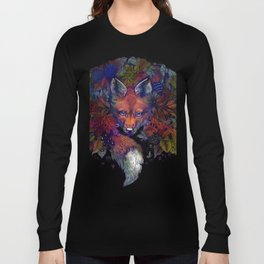 Hiding fox rainbow Long Sleeve T-shirt