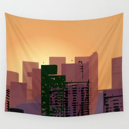 Sunset over San Francisco Wall Tapestry