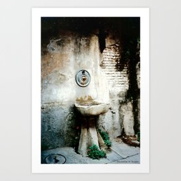 Fontana di Cortona ~ Rustic Tuscan Fountain Art Print