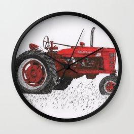 Farmall Super M, International Harvester Tractor Drawing Wall Clock