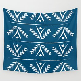indigo wreath Wall Tapestry