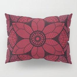 Red flower mandala Pillow Sham
