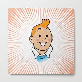 Tintin Metal Print