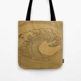 Vintage Golden Wave Tote Bag