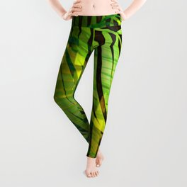TROPICAL GREENERY LEAVES no1 Leggings