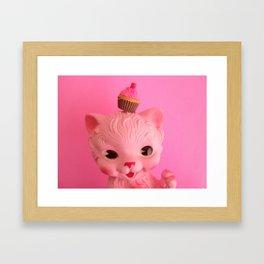 Kitty Cupcake Framed Art Print