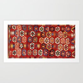 Mut  Antique Turkish Mersin Kilim Print Art Print