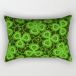 Clover Lace Pattern Rectangular Pillow