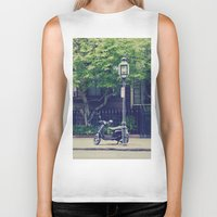 vespa Biker Tanks featuring Vespa by thirteesiks