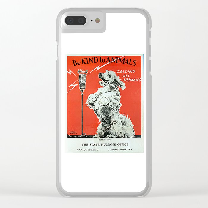 Be Kind To Animals 6 Clear iPhone Case