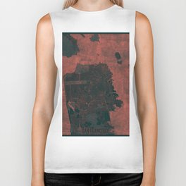 San Francisco Map Red Biker Tank