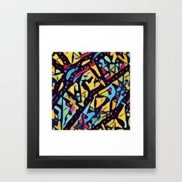 Vibrant Kaleidoscopic Thicket Framed Art Print
