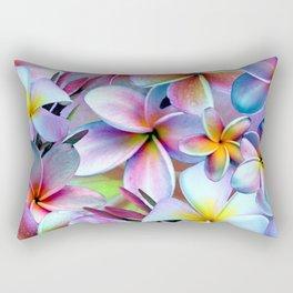 Rainbow Plumeria Rectangular Pillow