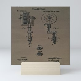 Tattoo Machine Schematic 1891 Mini Art Print
