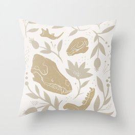 Forest Floor - Gold Throw Pillow