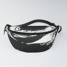 Black and White Brush Strokes Fanny Pack