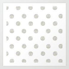 Grey Dots Art Print