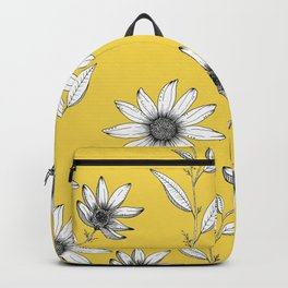 Wildflower line drawing | Botanical Art Backpack
