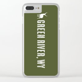 Deer: Green River, Wyoming Clear iPhone Case