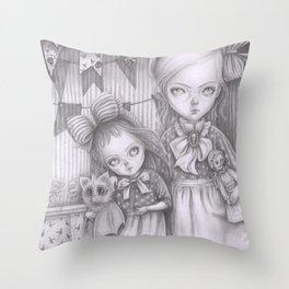Subrina and Rosabel Throw Pillow