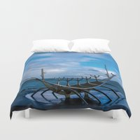 vikings Duvet Covers featuring Remember the Vikings by Alex Tonetti Photography