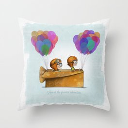 UP Pixar— Love is the greatest adventure  Throw Pillow