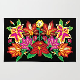 Mexican Exotic Flowers Rug