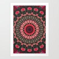 spiritual Art Prints featuring Spiritual Rhythm Mandala by Elias Zacarias
