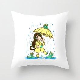 Best Frog Girl Throw Pillow