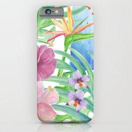 Malia's Tropical Print iPhone Case