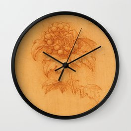 Floral art - Leonardo Da Vinci Wall Clock