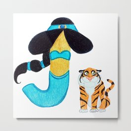J is for Jasmine Metal Print