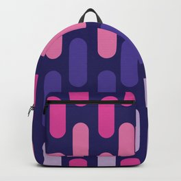 Colourful lines on navy background Backpack