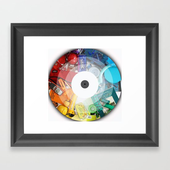 Color Circle Framed Art Print