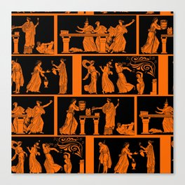toga party squares Canvas Print
