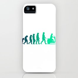 Scooter Evolution Moped And Scooter Gifts iPhone Case