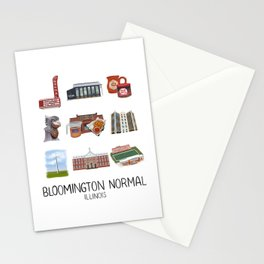 Bloomington Normal, Illinois Stationery Cards