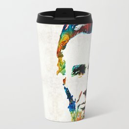 Abraham Lincoln Art - Colorful Abe - By Sharon Cummings Travel Mug