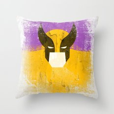 Logan grunge Throw Pillow