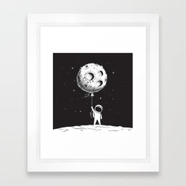 Fly Moon Framed Art Print