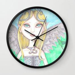 Hummingbird Faerie Wall Clock