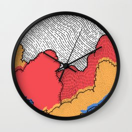 As the super moon rises Wall Clock