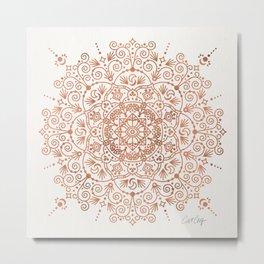 Moroccan Mandala – Rose Gold Metal Print