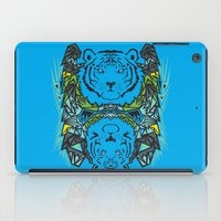 tigers iPad Cases featuring Tigers #3 by Ornaart