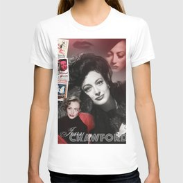 Joan Crawford Collage Portrait T-shirt